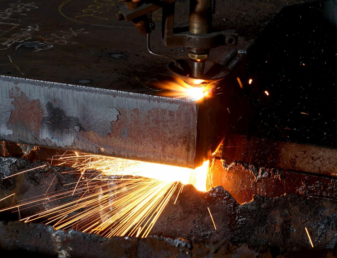 Brennschneiden von Stahl