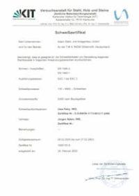 Schweißzertifikat EN 1090-2 + EN 1993-1 EXC 1 - EXC 3