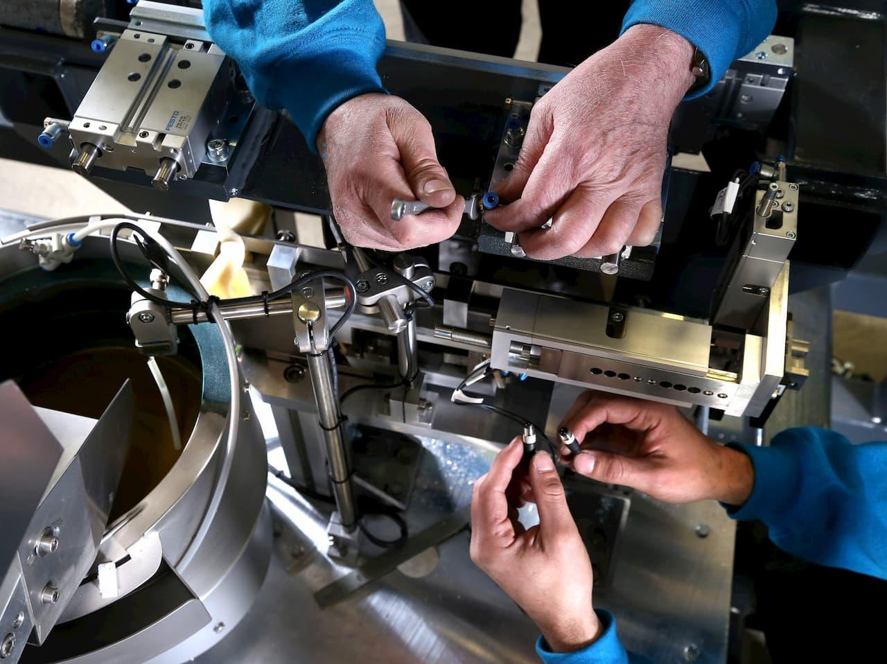 Montage von Maschinenkomponenten
